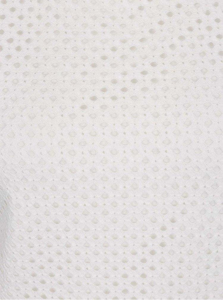 Bílé tílko s krajkovým předním dílem Dorothy Perkins Tall