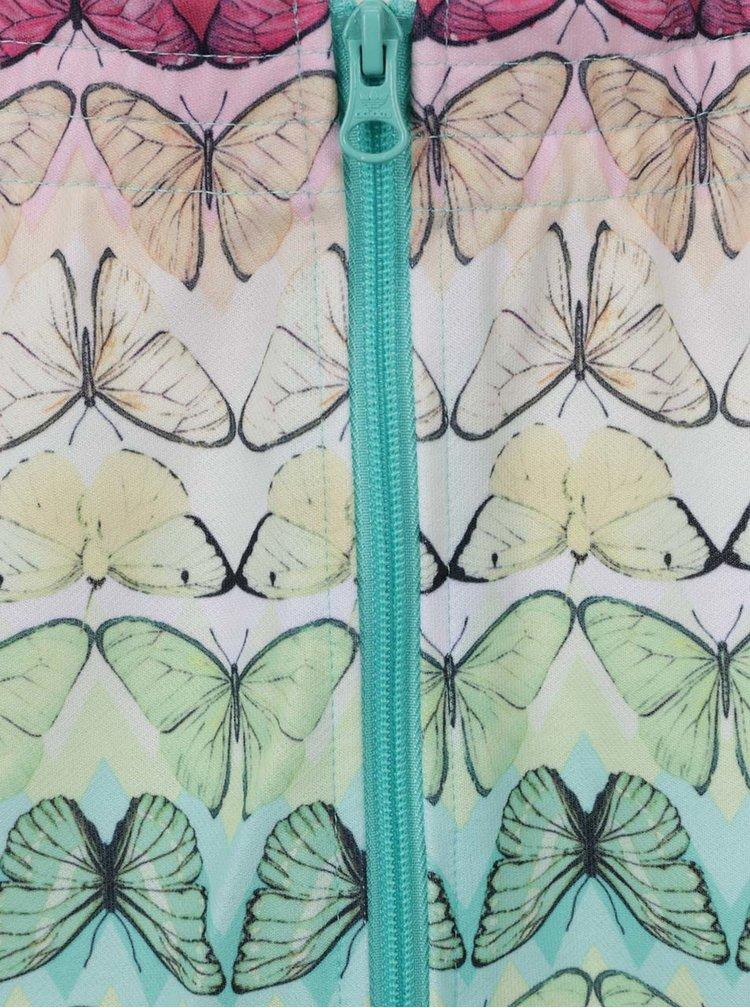 Fusta multicolora adidas Originals cu imprimeu - fluturi