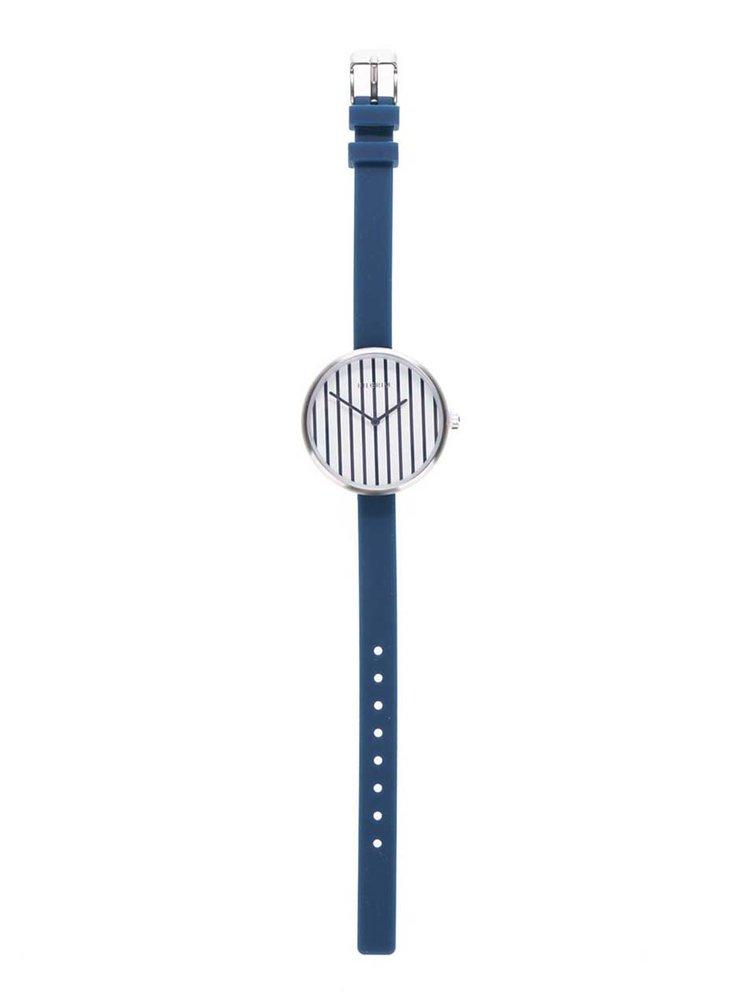 Dámské postříbřené hodinky se silikonovým páskem Pilgrim