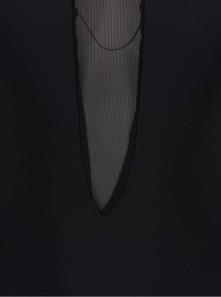 Černé jednodílné plavky s průsvitnými detaily Y.A.S Mace