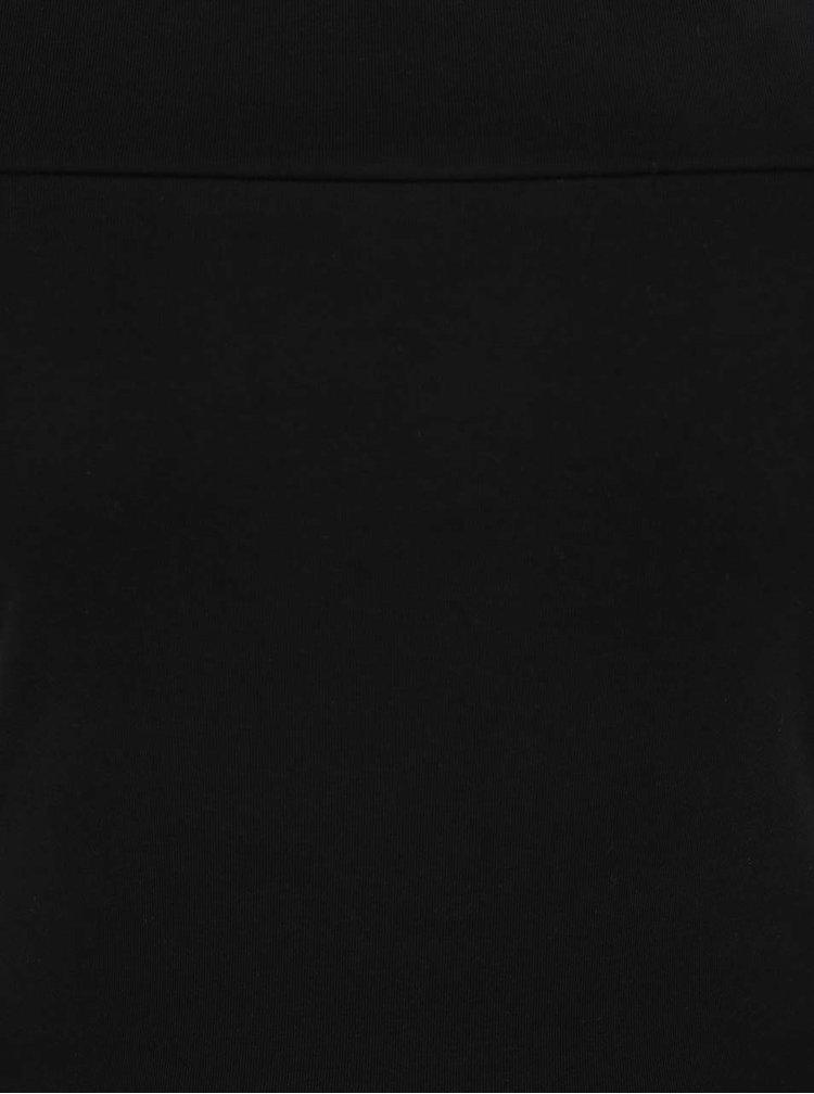 Černé šaty s odhalenými rameny Dorothy Perkins Tall