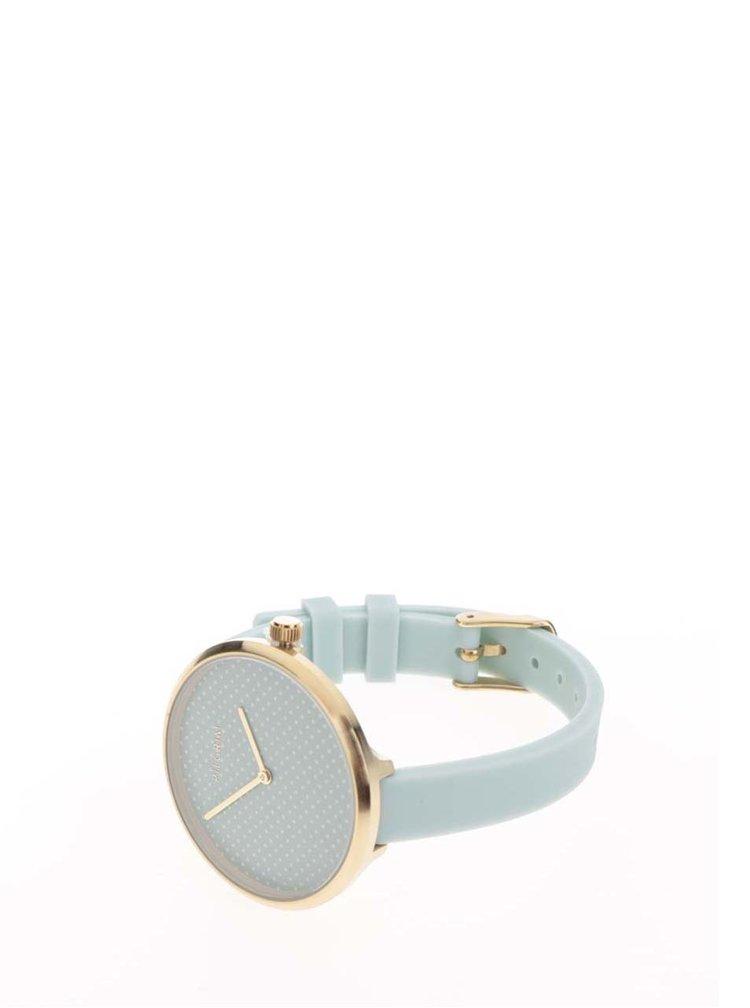 Dámské pozlacené hodinky se silikonovým páskem Pilgrim