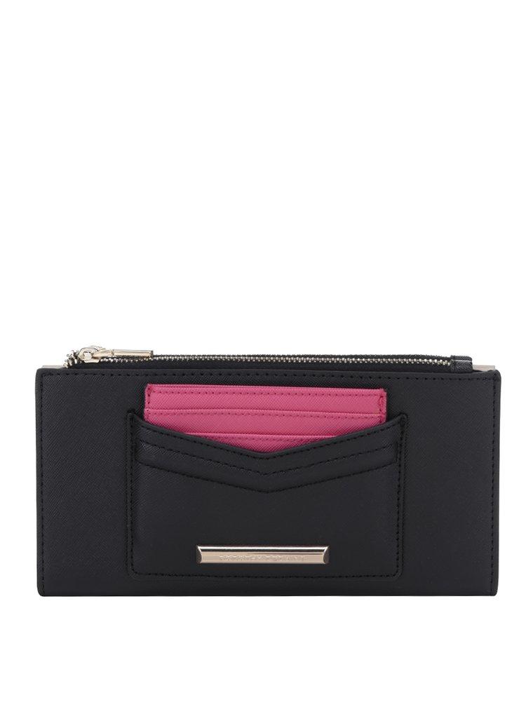 Černá peněženka s růžovým pouzdrem na karty Dorothy Perkins