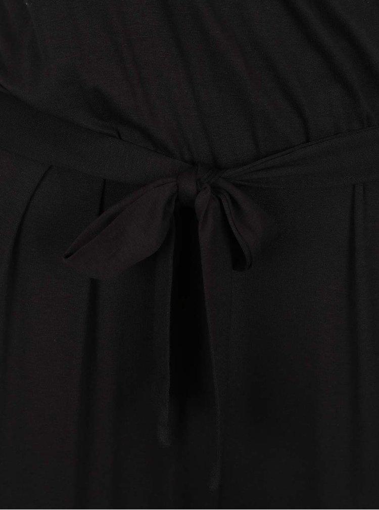 Salopetă neagră Dorothy Perkins Tall cu mâneci scurte
