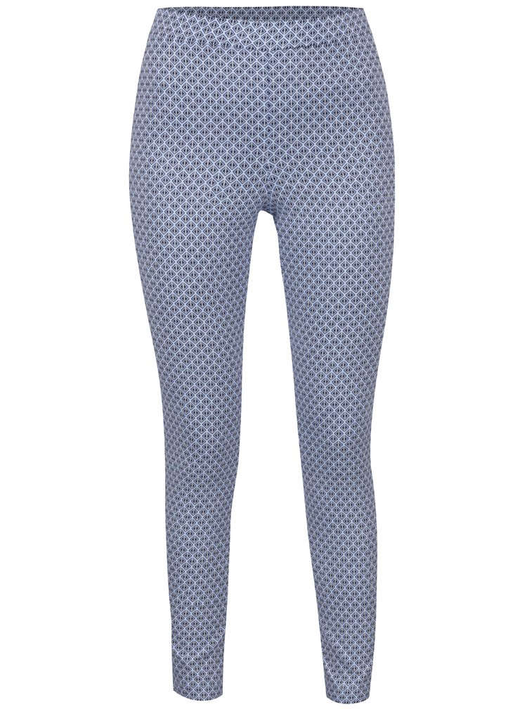 Světle modré vzorované zkrácené kalhoty Dorothy Perkins Tall