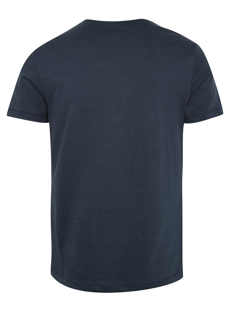 Tricou albastru inchis Blend cu imprimeu
