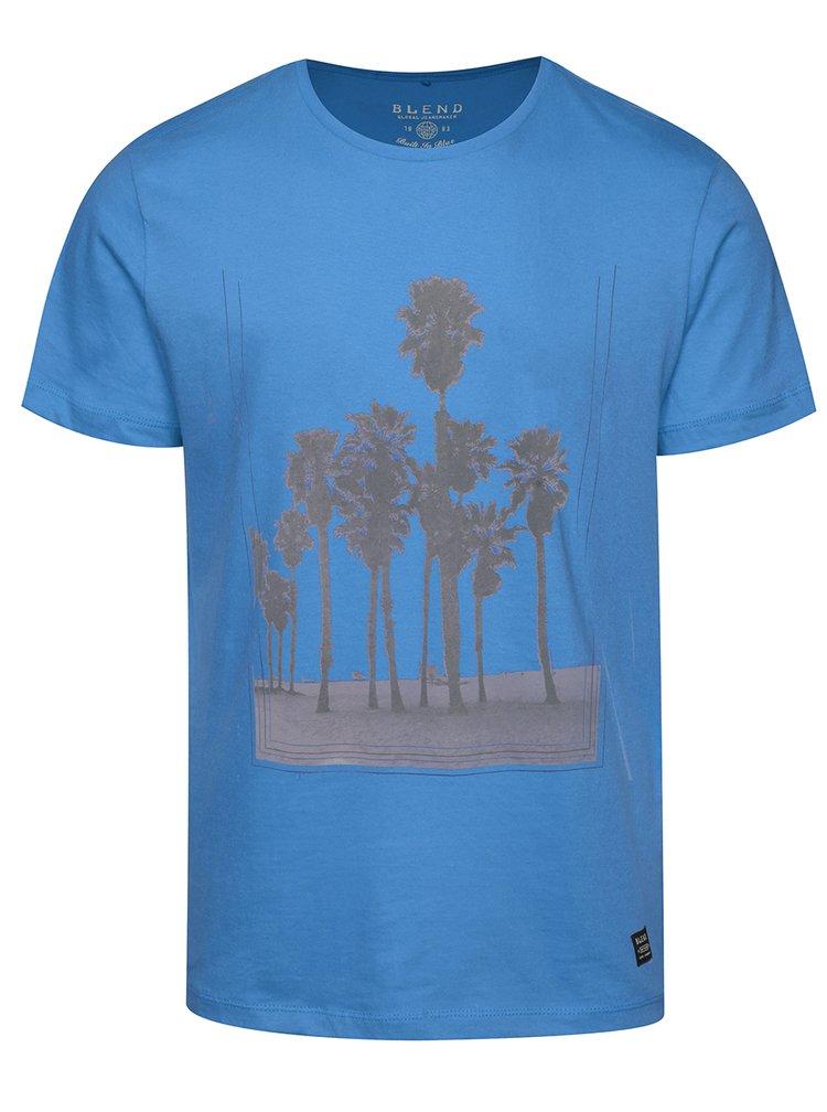 Modré triko s potiskem palem Blend