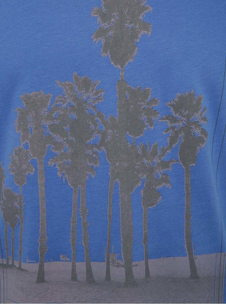 Tricou albastru Blend din bumbac