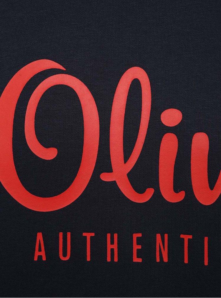Hanorac negru cu print rosu  s.Oliver