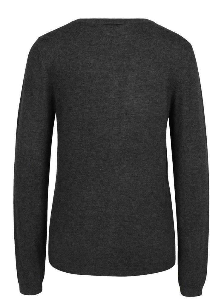 Tmavě šedý svetr s knoflíky VERO MODA Glory