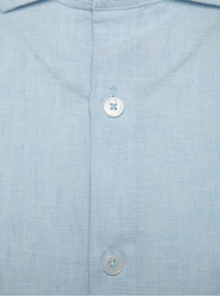 Camasa albastru deschis din panza Burton Menswear London