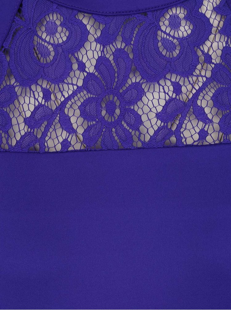 Rochie albastra Dorothy Perkins Tall cu insertie din dantela
