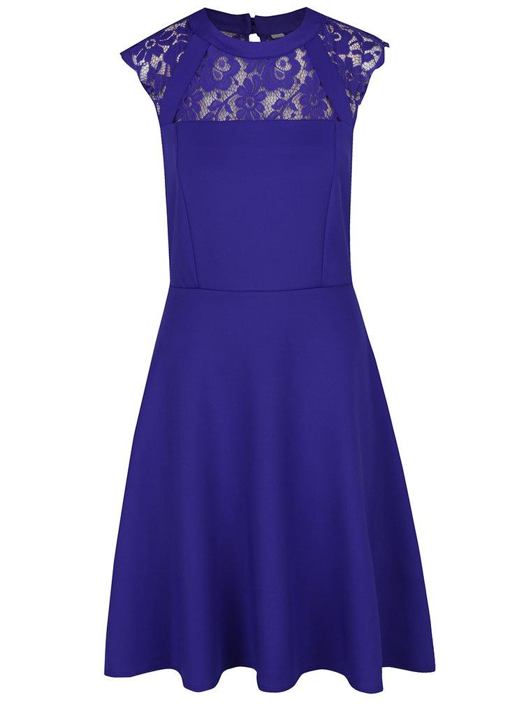 Modré šaty s krajkovým sedlem Dorothy Perkins Tall