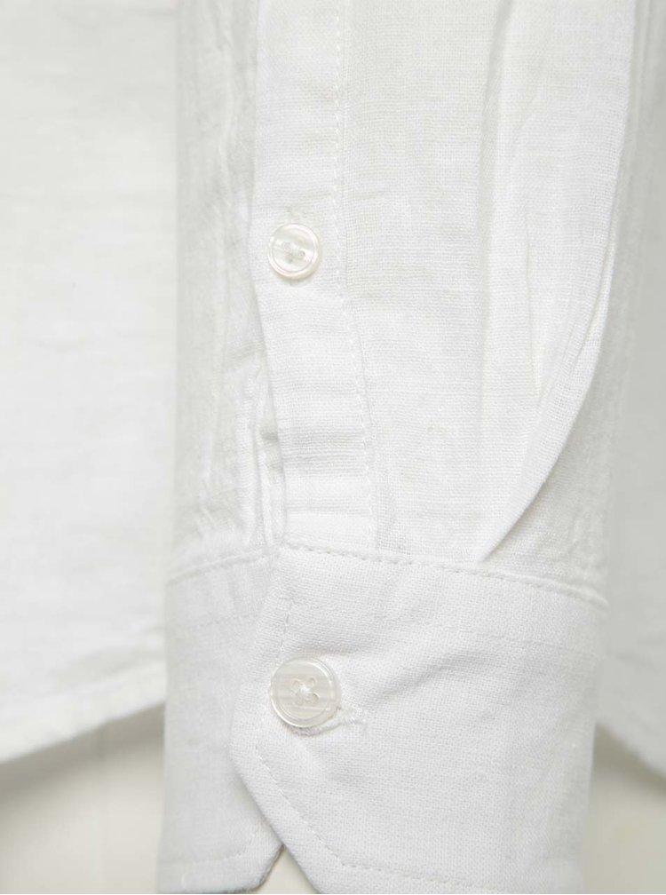 Cămașă crem din pânză  Burton Menswear London cu mâneci lungi