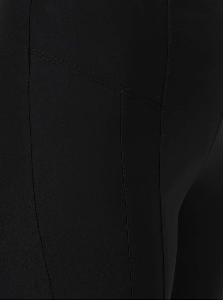 Černé skinny kalhoty s detaily Miss Selfridge