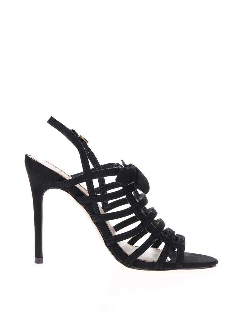 Sandale negre Miss Selfridge cu barete încrucișate