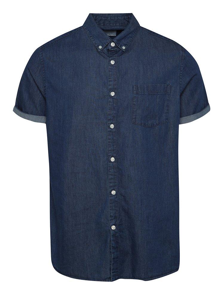 Cămașă albastră cu mâneci scurte Burton Menswear London din denim