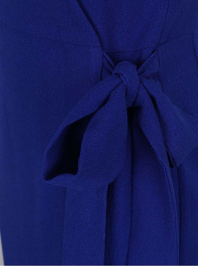 Modré zavinovací šaty Dorothy Perkins Tall