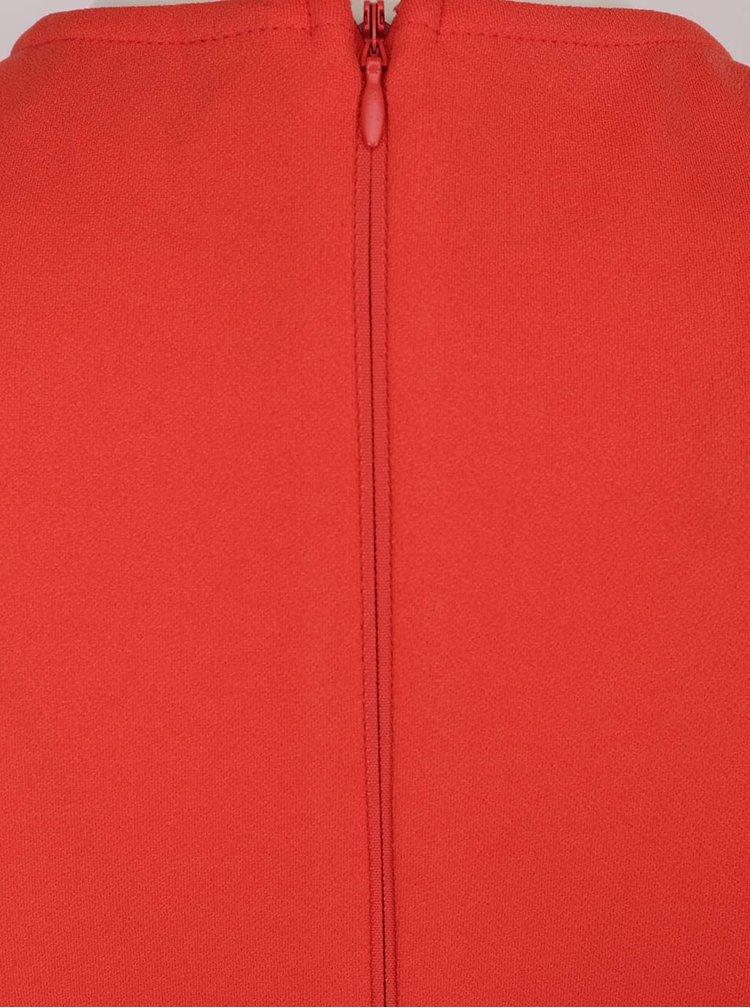 Červené šaty s tvarovaným výstřihem Dorothy Perkins Tall