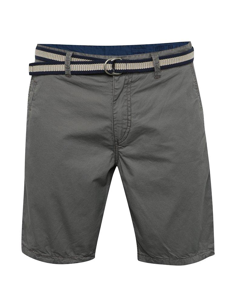 Pantaloni scurți gri Blend din bumbac