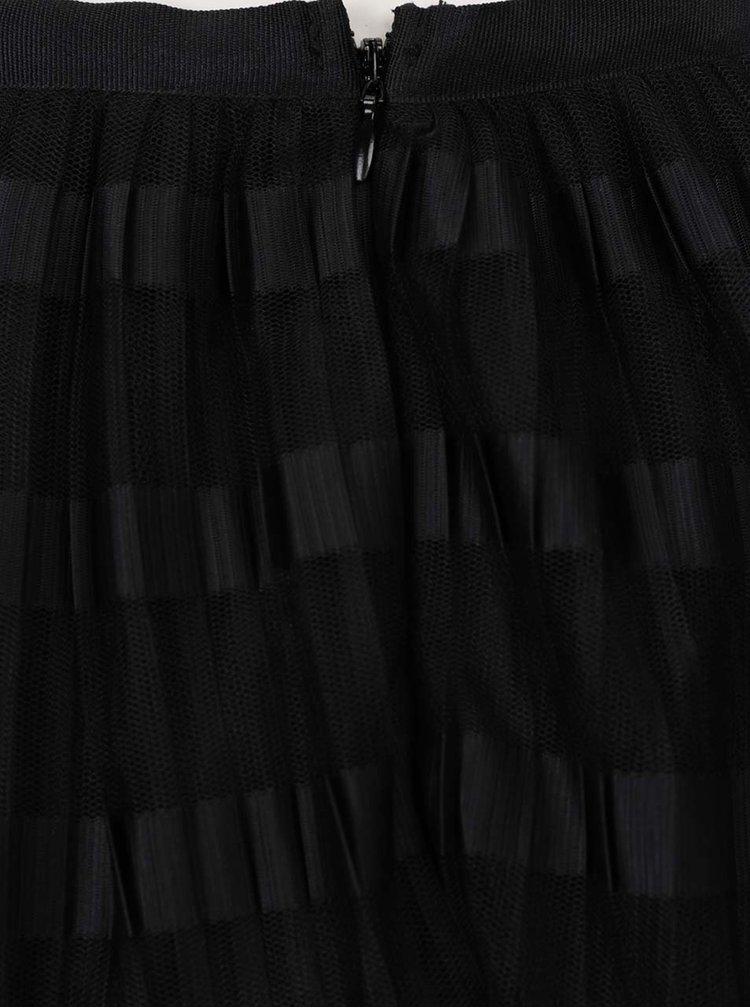 Fustă negră Miss Selfridge cu model în dungi