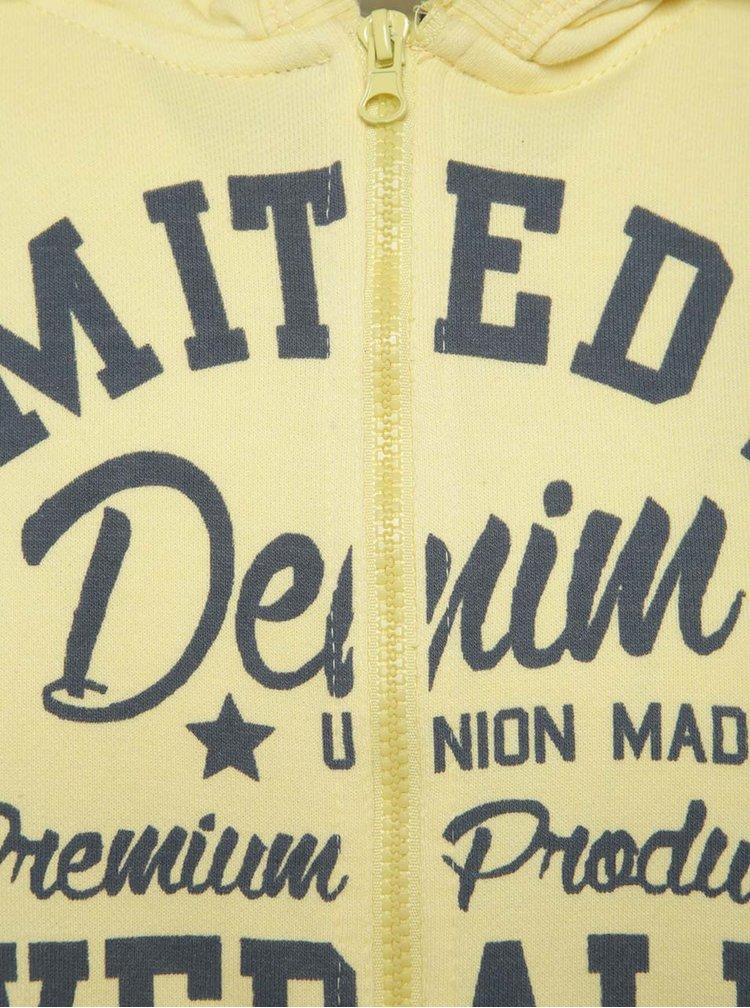 Hanorac galben Blend cu print