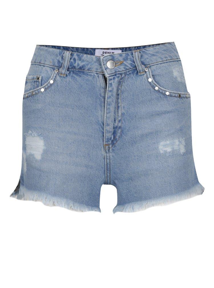 Světle modré džínové kraťasy Miss Selfridge