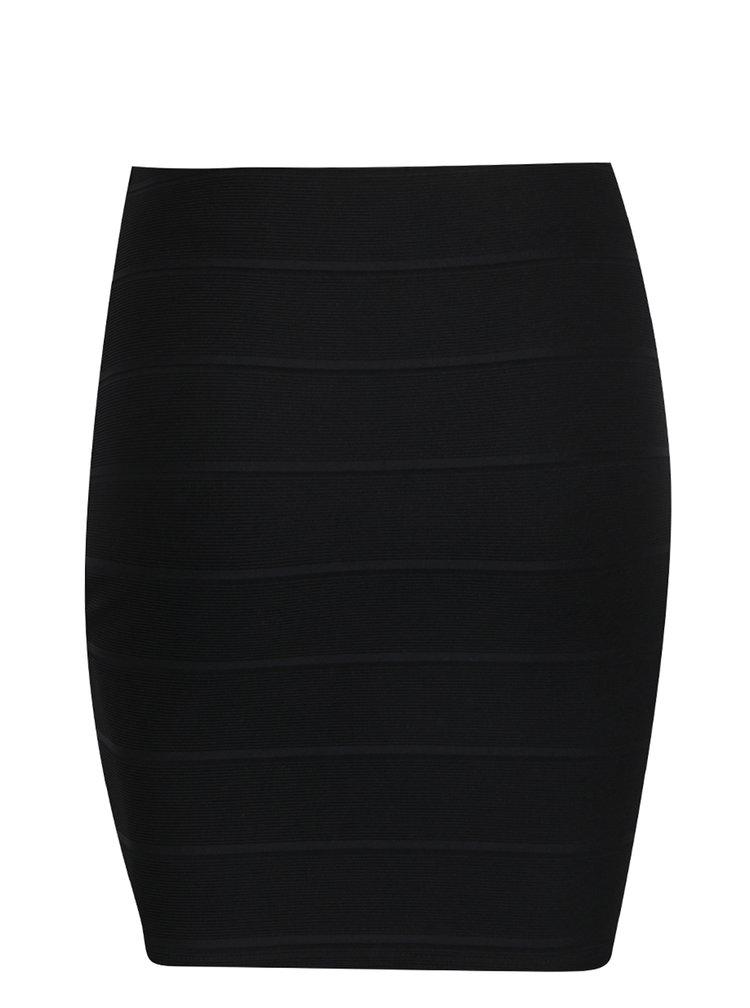 Černá minisukně s detaily Miss Selfridge