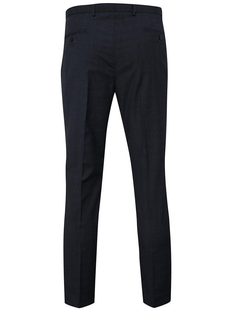 Tmavě modré vzorované formální skinny kalhoty Burton Menswear London