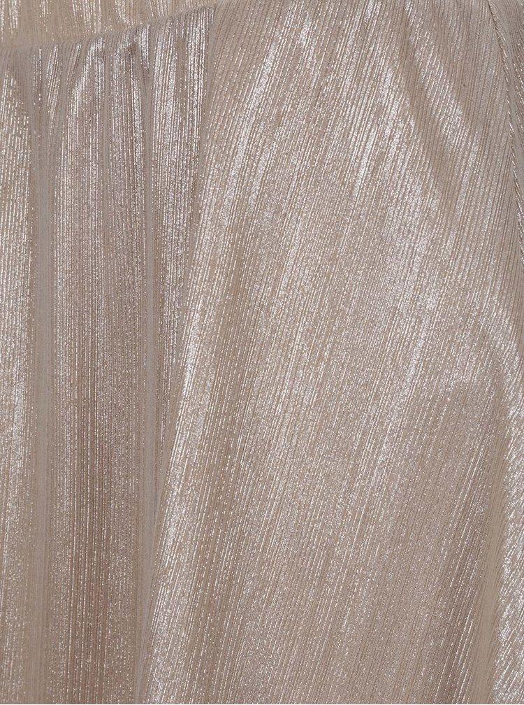 Sukně v béžovozlaté barvě VILA Rittes