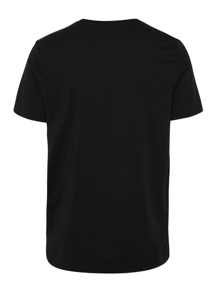 Černé tričko s potiskem Jack & Jones Foam