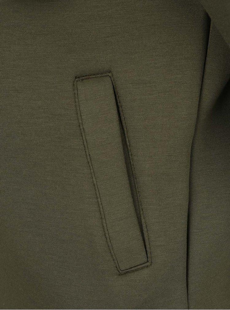 Khaki žíhaný mikinový křivák VILA Biker
