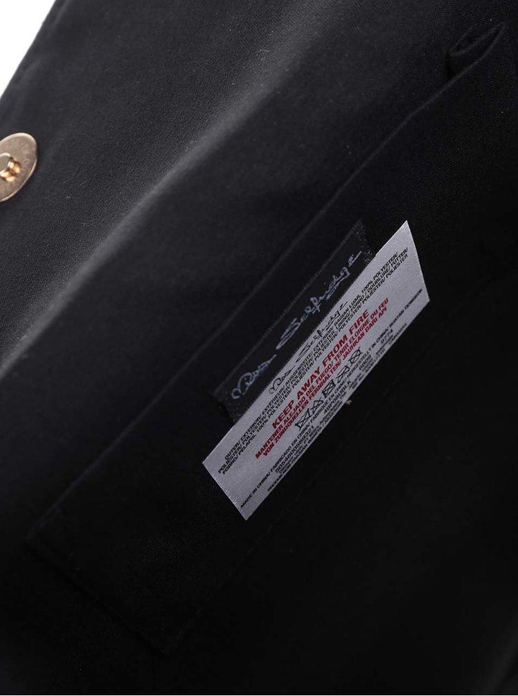 Černá kabelka/psaníčko v semišové úpravě Miss Selfridge