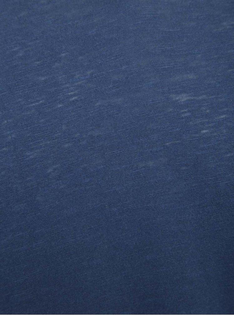 Modré triko s knoflíky Jack & Jones Ben