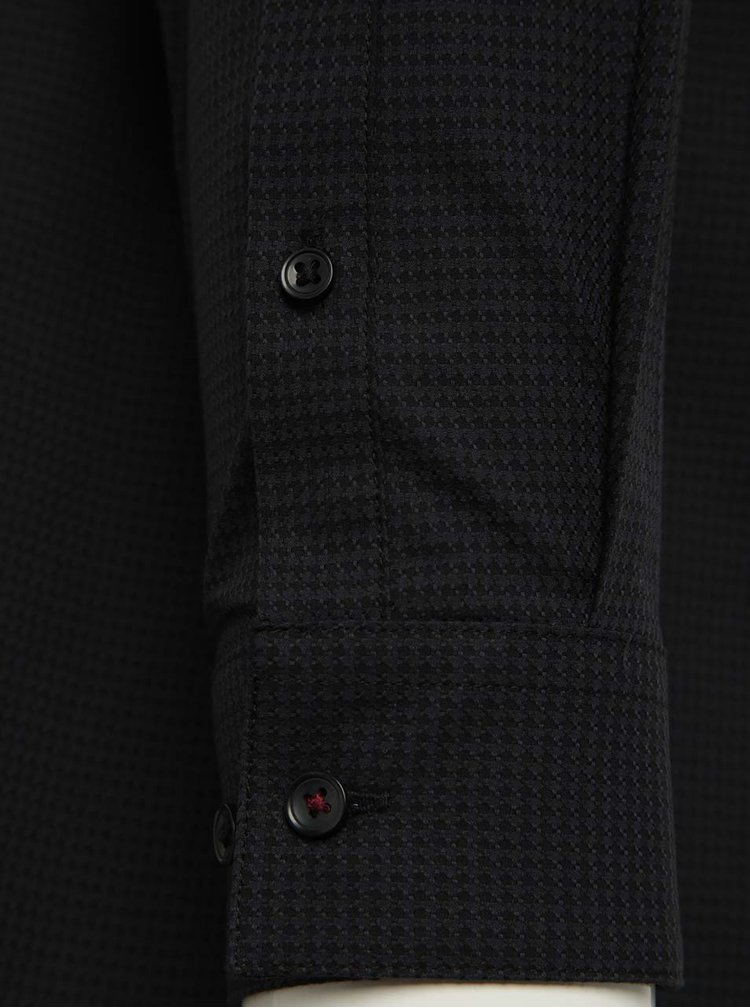 Camasa slim fit gri&negru Burton Menswear London