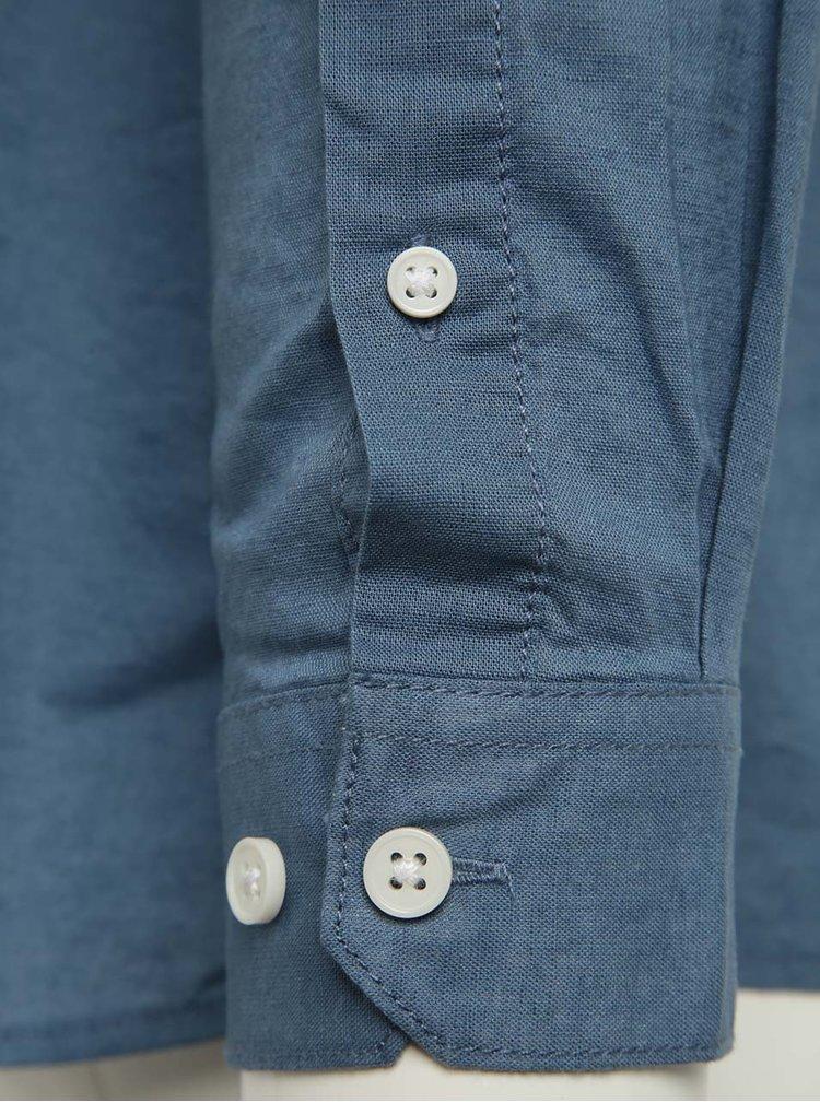 Cămașă albastră slim fit Jack & Jones Phlake