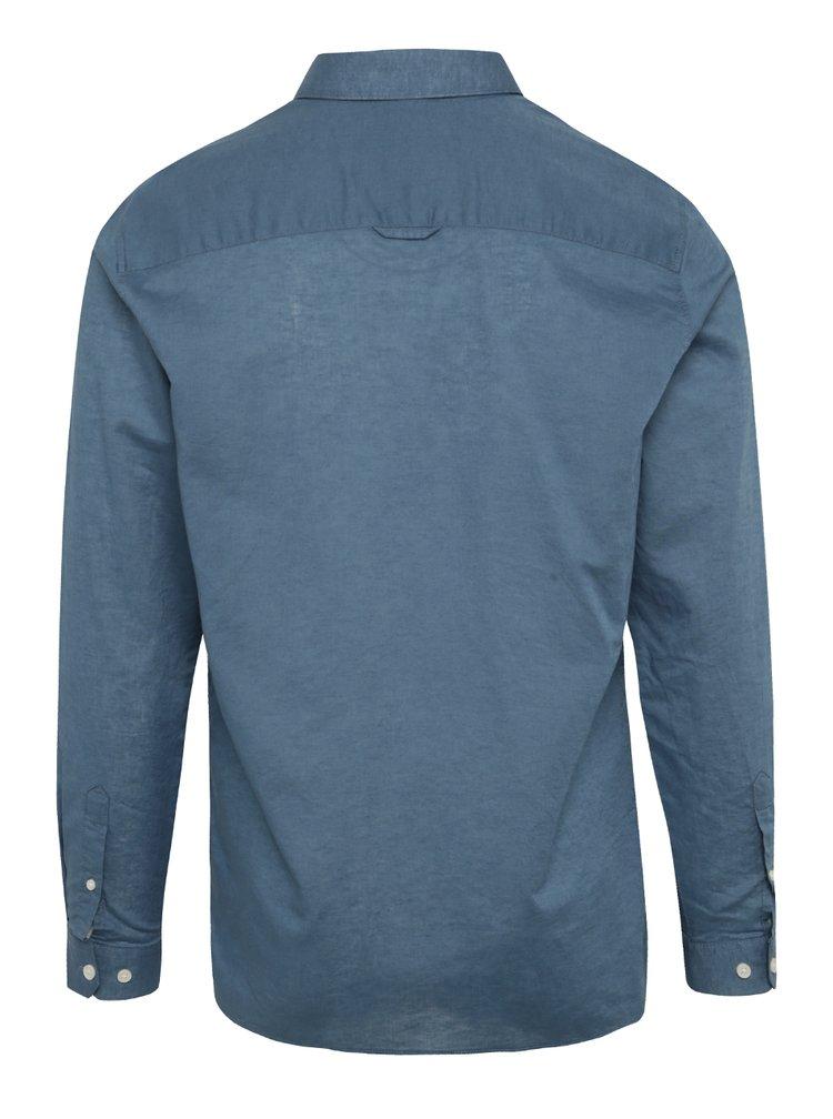Modrá košile s příměsí lnu Jack & Jones Phlake