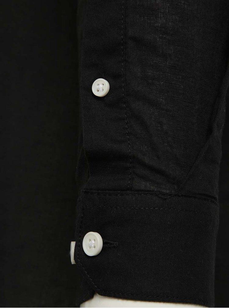 Camasa neagra slim fit Jack & Jones Phlake