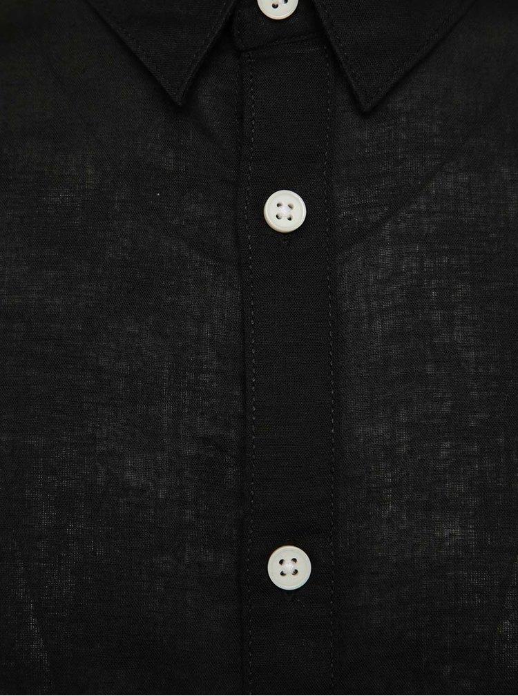 Cămașă neagră slim fit Jack & Jones Phlake
