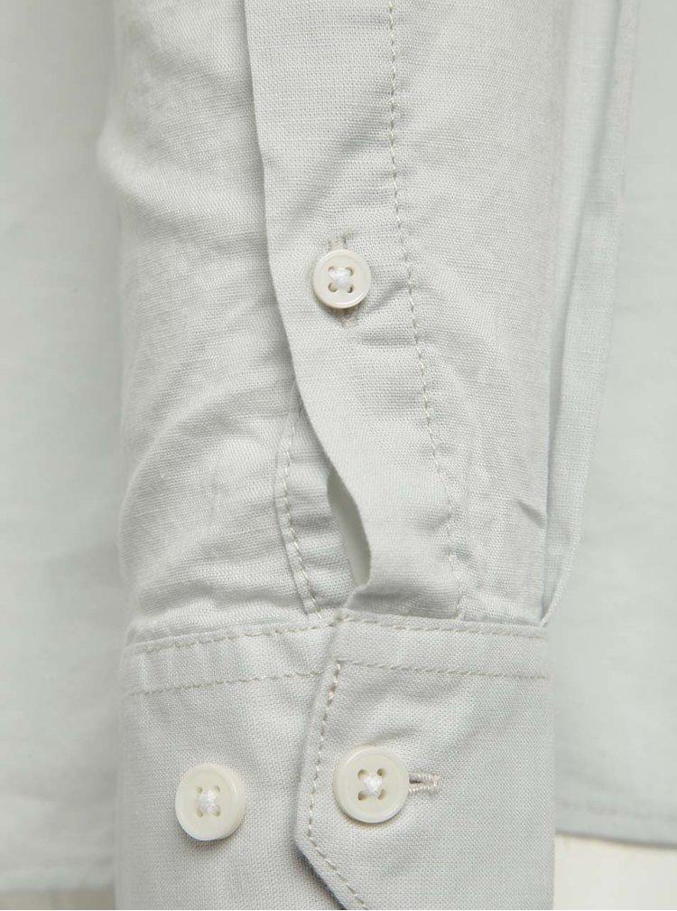 Světle šedá košile s příměsí lnu Jack & Jones Phlake