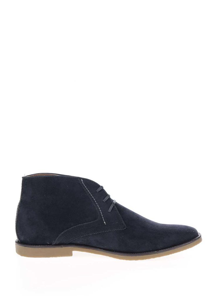 Tmavě modré kotníkové boty v semišové úpravě Burton Menswear London
