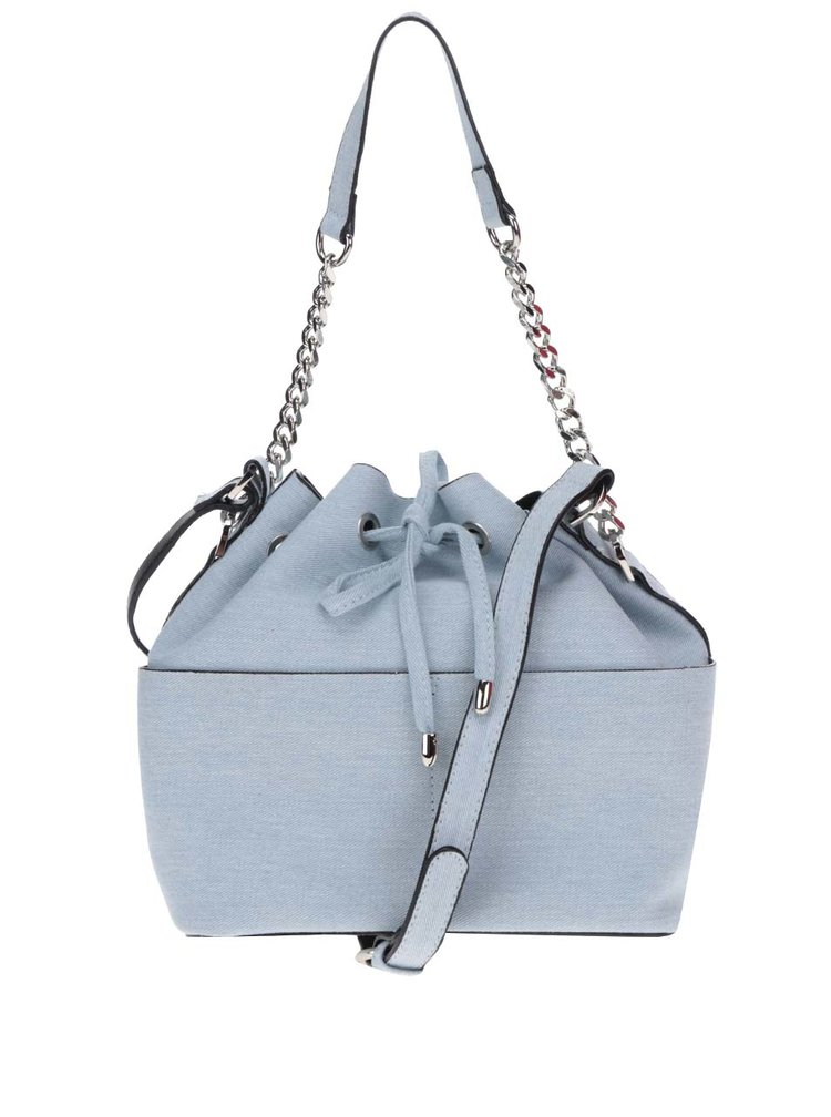 Světle modrá vaková kabelka Miss Selfridge