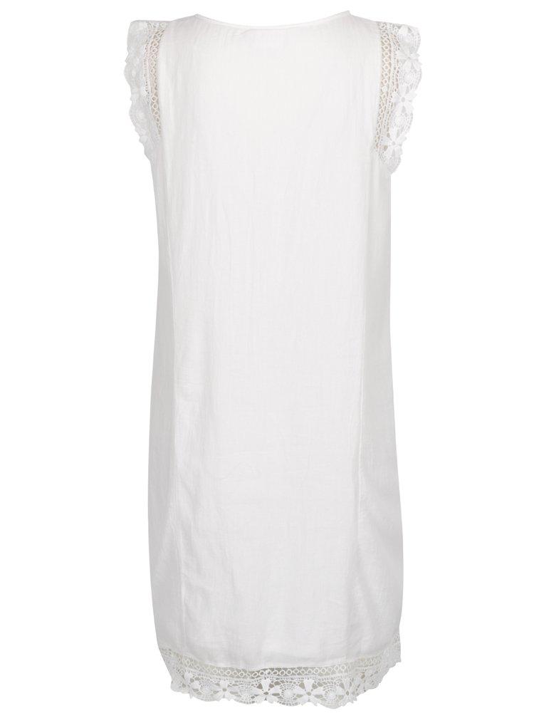 Rochie albă VILA Redition cu dantelă