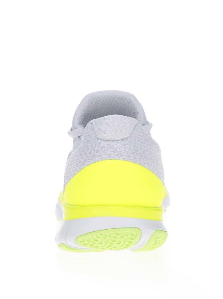 Pantofi sport gri cu galben Nike Free Trainer