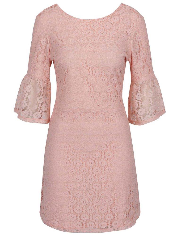 Rochie roz pal Miss Selfridge din dantelă