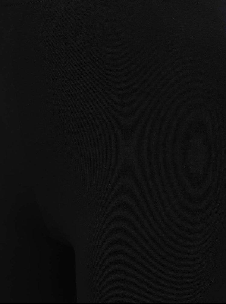 Černé kraťasy s krajkovým lemem Miss Selfridge
