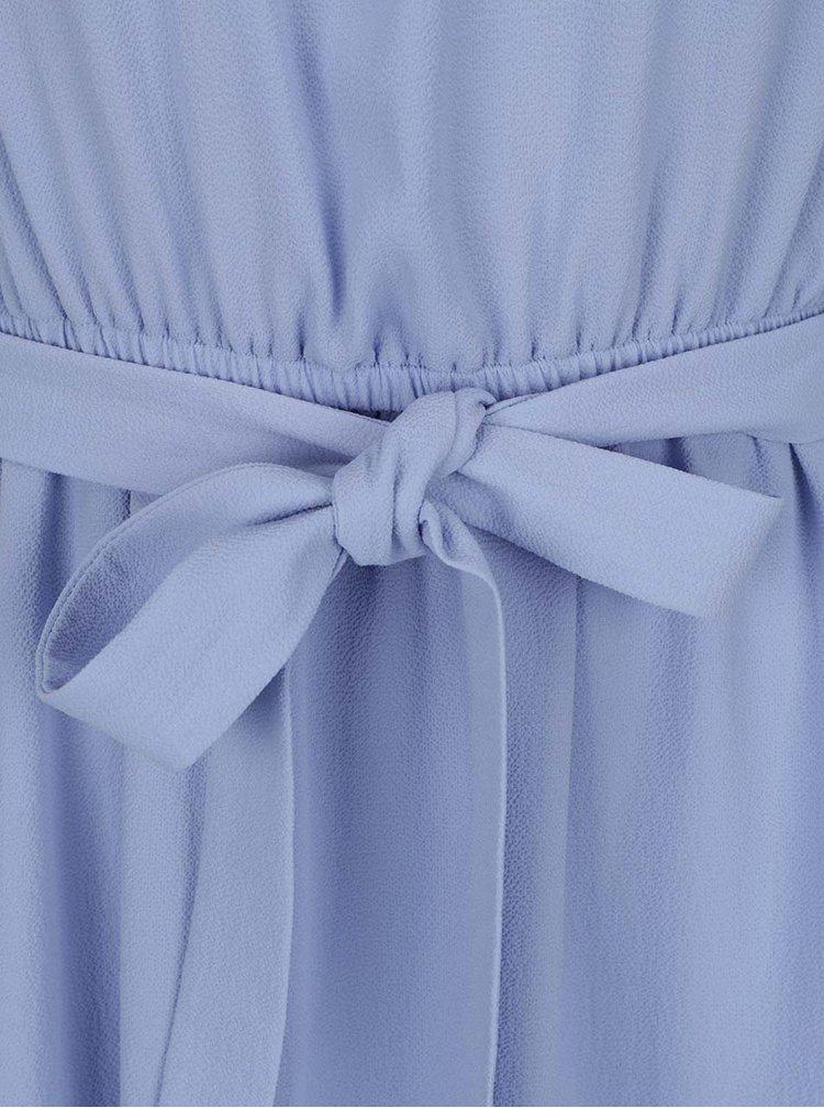 Světle modré šaty s průstřihy na ramenou Miss Selfridge