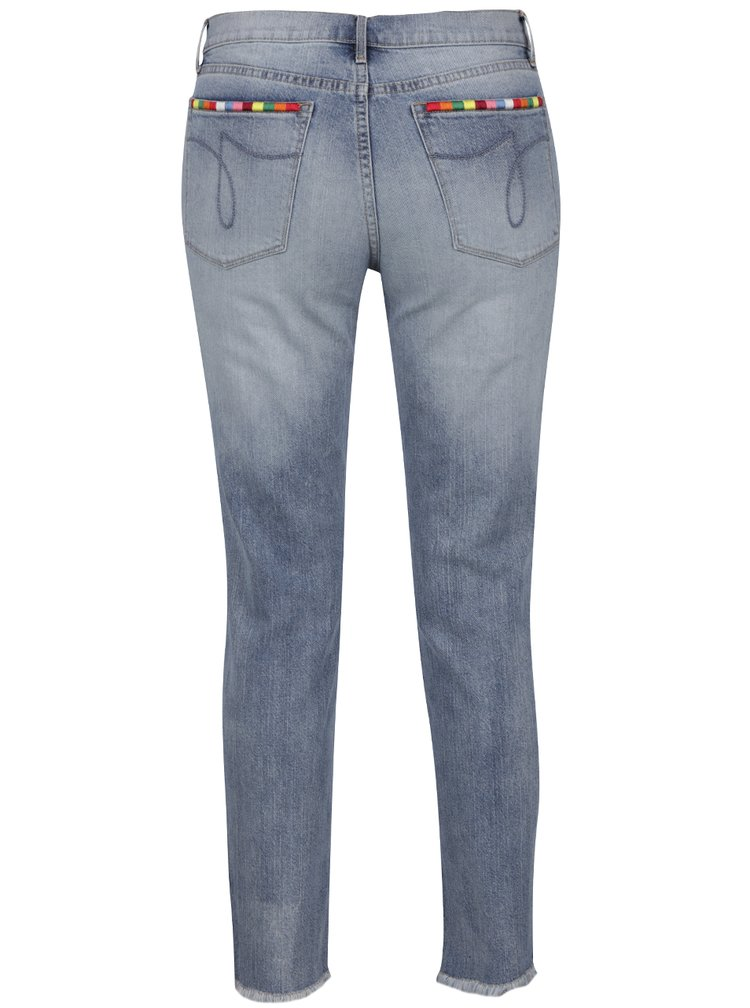 Modré dámské džíny s barevnými detaily Juicy Couture