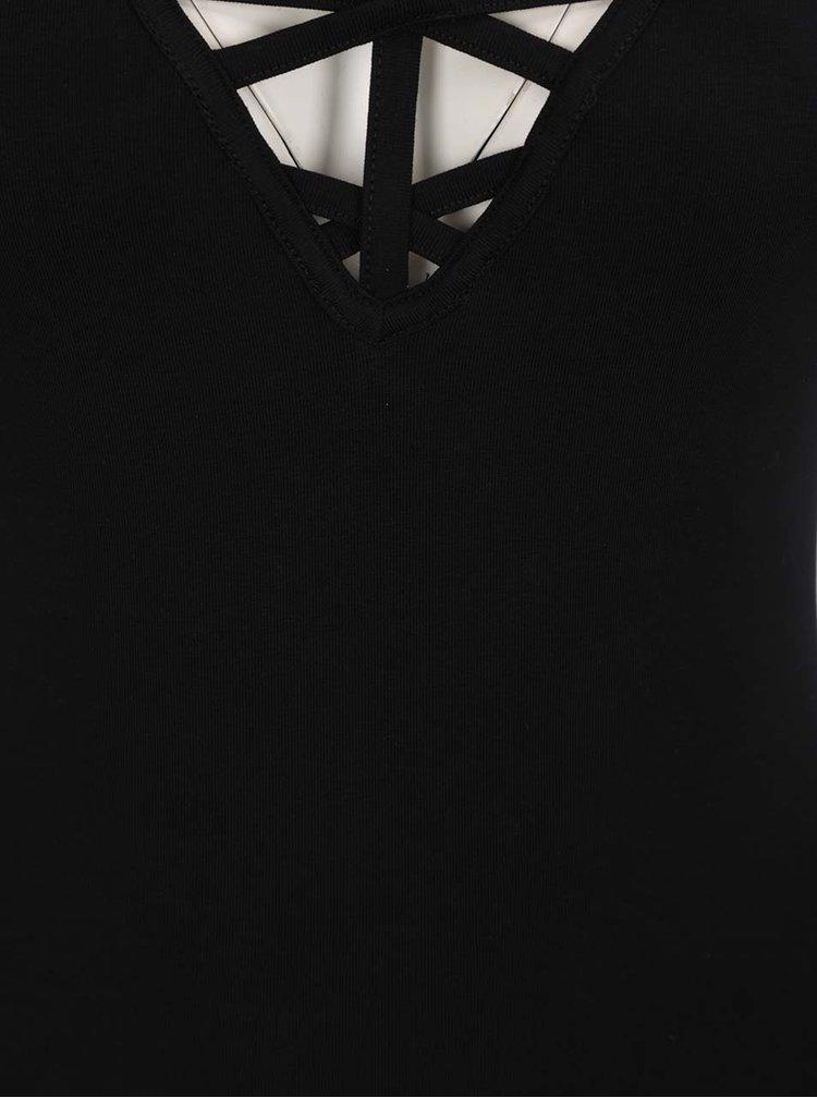 Černé body s páskem kolem krku Miss Selfridge