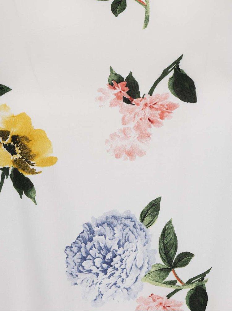 Krémová květovaná halenka Dorothy Perkins Curve